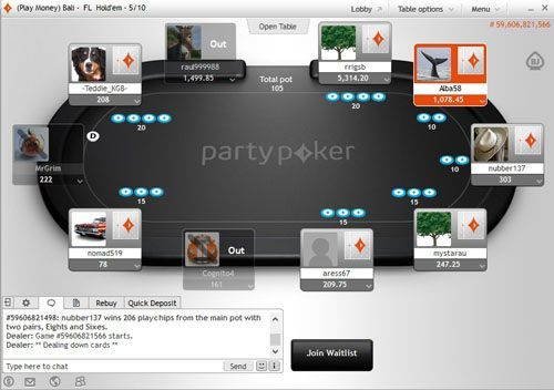 party-poker-table